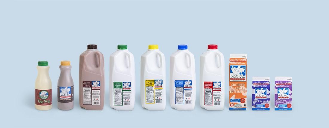 valley view milk lineup